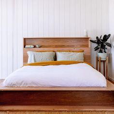 Al and Imo Custom Timber Furniture Timber Bed Frames, Timber Beds, Bookshelf Headboard, Bookshelves, Timber Furniture, Bedroom Furniture, Pallet Furniture, Minimalist Bed Frame, Design Your Bedroom