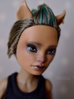 Clawd Wolf OOAK Custom Monster High doll REPAINT - by UNNiEDOLLS #DollswithClothingAccessories
