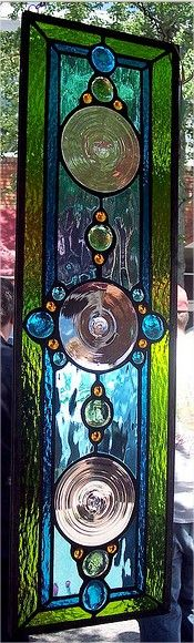 Glass panel by Amy Keith Barney http://www.arcreactions.com/custom-cds-and-covers/