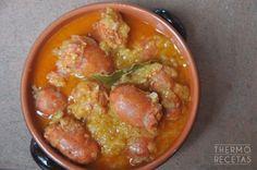 Salchicha roja con cebolla - http://www.thermorecetas.com/salchicha-roja-cebolla/