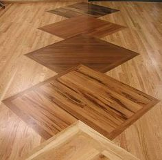 hardwood floor featuring a pattern of overlapping squares - Hardwood Floor Design Ideas