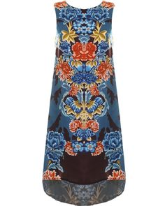 LOVE Japanese Floral High Low Swing Top - In Love With Fashion