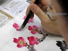 Chinese Brush Painting Class by Wendy Koay Korean Painting, Chinese Painting, Chinese Art, Chinese Brush, Japanese Watercolor, Japanese Painting, Japanese Art, Ink Painting, Watercolor Paintings