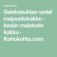 Geishasuklaa-vadelmajuustokakku - kesän maistuvin kakku - Kohokohta.com Mascarpone