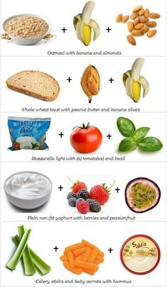 Healthy snack ideas! Don't let yourself get bored with your diet - you'll be more likely to stray from your healthy eating plan. Try some of these healthy snack combos to keep it interesting! #healthysnack