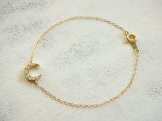 New Moon  Glam bracelet 14 K von BradleyBetty auf Etsy