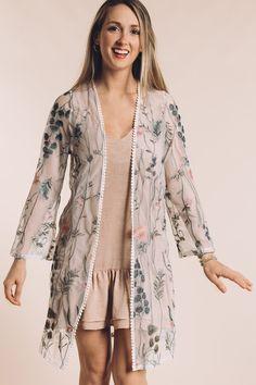 Peek-A-Boo Sheer Kimono