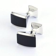 KBAP Black Cufflinks for Men Wedding Suit Dress Shirt Sleeve Button Cufflinks Classic Men's Fashion Jewelry Cuff Link Cufflink