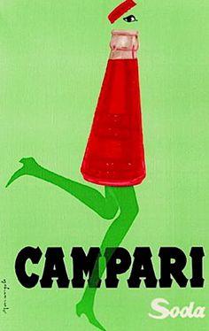 """Campari soda - Franz Marangolo """"Campari corre con il tempo"""" - 1960 - Galleria Campari, Sesto San Giovanni (MI)"""
