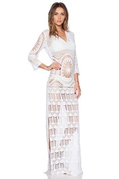 LISA MAREE - London Fiction Crochet Dress in White. Price: 252,46 euros. Yarn: 100% Cotton