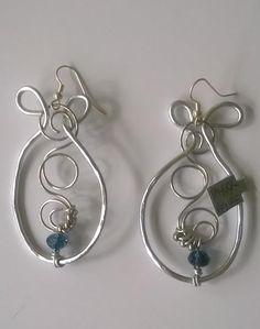 Silver Indian loopy loop earring---TRJ