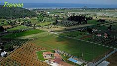 Vakantie appartementen aan de zee met zwembad in Toscane, Italië.