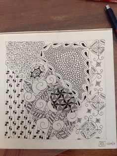 Zentangle patterns :-)