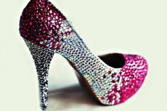 Doesn't matter how gaudy I love sparkly shoes, like Cinderella :)