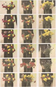 """Bas Jan Ader  Primary Time, 1974  stills from silent film  """"As a simple vase to Mondrian could introduce the imperfection in the study, Ader's work is not about replacing one type of modern purity on the other, but rejects the very possibility of purity in contemporary art.""""  http://museumuesum.tumblr.com/post/27483397154/bas-jan-ader-primary-time-1974-stills-from"""
