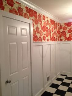Peony Wallpaper - Urban Outfitters Love for Baby's room with Bunny Grey on the lower half of the walls.