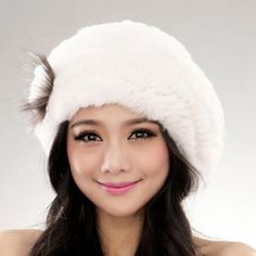 2016 New Genuine Rex Rabbit Fur Hat Knitted Rabbit Fur Cap Real Rabbit Fur Headwear Winter Warm Womens Hat TPHR0003 #>=#>=#>=#>=#> Click on the pin to check out discount price, color, size, shipping, etc. Save and like it!