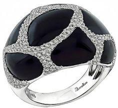 Onyx 0.80ct Diamond Ring