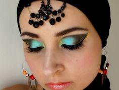 Arabic makeup How To Be Indie, Arabic Makeup, Make Up, Drop Earrings, Hair, Beauty, Jewelry, Fashion, Arab Makeup