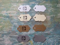 Étiquettes personnalisées, Étiquettes à bijoux, étiquettes à vêtements «Mini mini! Modèle F» (50) 4 couleurs disponibles de la boutique Lamainalacarte sur Etsy