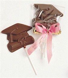 chocolate diploma & cap favor
