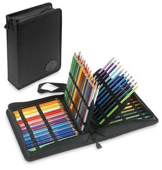 Pinner says: I love this pencil case. It holds 120 pencils and pens. I have room for my art erasers a ruler, etc.  It keeps everything in one place, and easy to find!