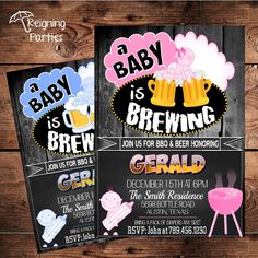 A Baby is Brewing Baby Shower Invitation  by ReigningParties, $20.00