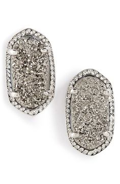 Kendra Scott 'Ellie' Oval Stone Stud Earrings | Nordstrom