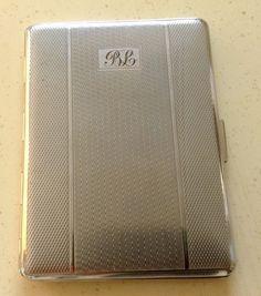 Cigarette Case. Silver Tone Metal by Har Bro. by VintageUKSouth