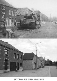 Knocked out Panther of the Panzer Division, Hotton. Battle of the Bulge Ww2 History, History Images, World History, Military History, French Buildings, D Day Normandy, Ww2 Photos, Ardennes, Military Photos
