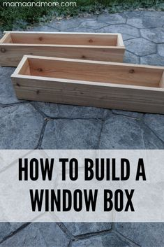 How To Build A Window Box - Mama and More How To Build A Window Box - Mama and More<br> How to build a quick and easy window box with only a few basic supplies. Wooden Flower Boxes, Diy Flower Boxes, Window Box Flowers, Paper Flowers Diy, Railing Flower Boxes, Cedar Window Boxes, Window Box Diy, Window Frames, Design House Stockholm