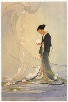 hanga gallery . . . torii gallery: Spirit of the Sea by Bertha Lum