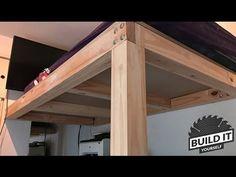 Loft Bed construction DIY – Build It Yourself - Kallax Bett Loft Bed Plans, Murphy Bed Plans, Lit Plate-forme Diy, Murphy-bett Ikea, One Room Apartment, Apartment Therapy, Diy Bett, Hideaway Bed, Modern Murphy Beds