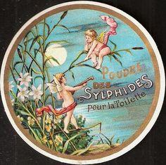 vintage powder label