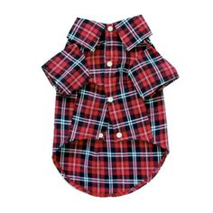 Romy & Jacob Red Plaid Dog Dress Shirt-This is just the cutest thing I've ever seen.