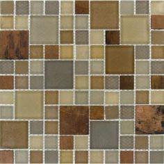 Metropolitan Blend Mesh-Mounted Mosaic Tile- Backsplash ...