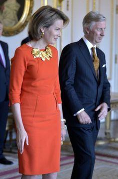 Reines de Belgique et des Pays-Bas - Mathilde arbore le même collier que Maxima Check more at http://people.webissimo.biz/reines-de-belgique-et-des-pays-bas-mathilde-arbore-le-meme-collier-que-maxima/