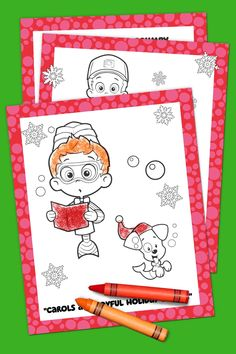 Bubble Guppies Holiday Coloring Pack