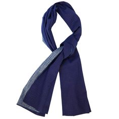 The Hill-Side Scarf - Selvedge Indigo Gingham (Reversible)