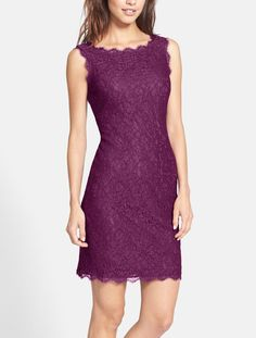 This gorgeous lace dress would look classy and cute on the bridesmaids. It comes in a variety of colors and would pair well with heels and simple accessories.