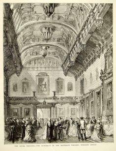 1871 Wood Engraving Royal Wedding Princess Louise John Campbell Windsor YTG2