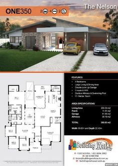 Photo gallery of building and renovation works completed by Building Works Australia 4 Bedroom House Plans, New House Plans, Modern House Plans, Small House Plans, Modern House Design, House Floor Plans, Garage Bathroom, Duplex Design, Home Design Floor Plans