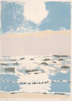 aubreylstallard:  Fairfield Porter, Sun and Sea, 1975