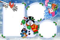 Moldura de Natal com fundo transparente - 3 Frames Png, Collage Picture Frames, Make Your Mark, Snoopy, Photoshop, Pictures, Fictional Characters, Winter, Christmas Picture Frames
