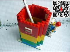 How To Build A Pencil Holder with Lego Bricks under 2min - YouTube