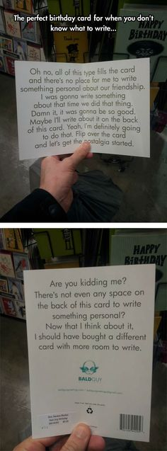 Hahaha brilliant card