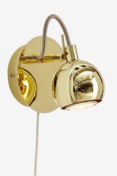 Ellos Home Väggspot Ricky 1 lampa - Mässing - Hem & inredning - Ellos.se
