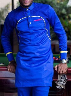African print Suit Top and down Send me Your measurements God Bless You. African Wear Styles For Men, African Shirts For Men, African Dresses Men, African Attire For Men, African Clothing For Men, Nigerian Men Fashion, African Men Fashion, Wedding Suit Styles, Mega Fashion