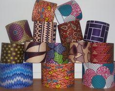 Handmade African Print Fabric Lampshades by Detola & Geek - Lamp Shades