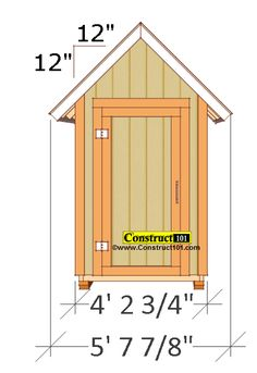 Small Garden Shed Plans Gable Shed is part of garden Shed Plans - Need a place to keep your garden tools and supplies safe and organized These small garden shed plans can be what you been looking for Small Shed Plans, Small Sheds, Diy Shed Plans, Shed Construction, Shed Kits, Wood Shed, Shed Design, Outdoor Sheds, Building A Shed